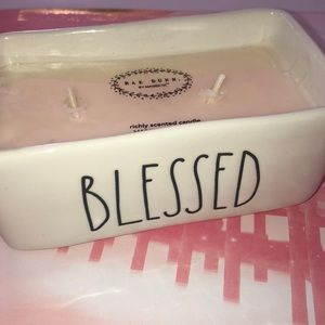 """Rae Dunn Candle 🕯 2 wick """"BLESSED"""""""